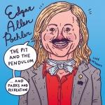 I'm doing Edgar Allan Poe jokes, again. #edgarallanpoe #amypoehler #parksandrecreation #pitandthependulum #illustration #drawingaday