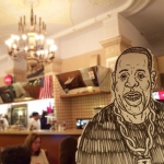 #JayZ came to the Edison cafe today. Save the Edison! http://www.change.org/p/richard-hotter-save-the-cafe-edison #Broadway #NYC #illustration #drawingaday