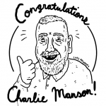 Bit of a learning curve - Experimenting with the #Wacom #intuos stylus 2 and #sketchbookpro on an iPad mini. Though I doubt this is the type of endorsement any of them want. #charlesmanson #illustration #drawingaday