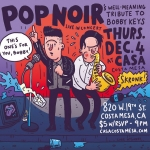 Just a reminder - #PopNoir live TOMORROW NIGHT at Casa in #CostaMesa. Come it! (No actual tributes to deceased Rolling Stones sax player Bobby Keys, probably) #illustration #drawingaday #rollingstones #bobbykeys #orangecounty #livemusic #theoc #saxophone #saxomophone