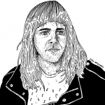 I did an impression of the Wall Street Journal with this Ariel Pink illustration for @larecordmagazine. You can almost pinpoint the moment I lost interest in stippling. (Pinpoint, stipple; get it?) #arielpink #wsj #larecord #illustration #drawingaday