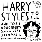 Well, that's Christmas over for another year!  #harrystyles #zaynmalik #christmas #onedirection #illustration #drawingaday