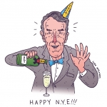 HAPPY NYE! #billnye #science #newyearseve #illustration #drawingaday #champagne #sciencerules #2015