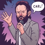 Is this a drawing of Father John Misty or Rick Grimes? #thewalkingdead #fatherjohnmisty #rickgrimes #carl #subpop #illustration #drawingaday #amc