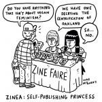 Will this get me in the New Yorker? #xena #zine #illustration #drawingaday #vegan #WarriorPrincess