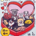 Here are some doggies in a chocolate box I drew for @fyffest and #goldiepup's pet adoption drive on Feb 15. Don't feed your dogs chocolate! #illustration #drawingaday #dogsofinstagram #valentinesday