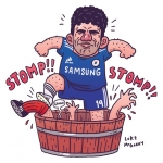You guys watch the Chelsea v Liverpool game today? #chelsea #liverpool #diegocosta #illustration #drawingaday