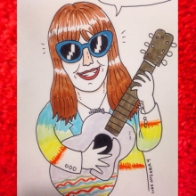 Made a Jenny Lewis Birthday card for number 1 Jenny Lewis fan @natalie.imbruglagram haha #jennylewis #illustration #drawingaday