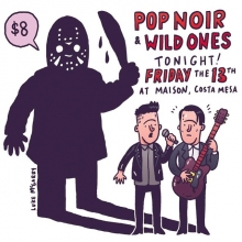 Happy Friday the 13th! My band @pop.noir is playing tonight in Costa Mesa with @WildOnesTheBand at Maison! Should be a lot of fun! Come it! #fridaythe13th #jason #vorhees #livemusic #orangecounty #costamesa #popnoir #illustration #drawingaday