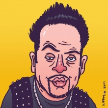 It's the series finale of Kroll Show tonight. Here's a drawing I did of @nickkroll for @festivalsupreme last year.  #krollshow #nickkroll #bobbybottleservice #verymuchnodisrespect #illustration #drawingaday