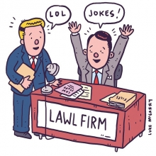 "It sounds like ""law firm""! Ha ha! #lol #law #illustration #drawingaday #nationalpuppyday"