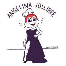 Angelina Jollibee... Do they give out joint Pulitzers because @joepopnoir helped me with this.  #angelinajolie #jollibee #illustration #drawingaday