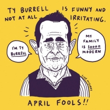 Brilliant April Fools joke. I really had you all going.  #tyburrell #modernfamily #illustration #drawingaday #aprilfools