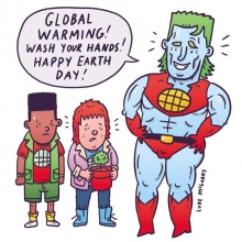 Happy Earth Day. Wash your hands! #earthday #captainplanet #globalwarming #ED #illustration #drawingaday