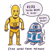 Star Wars from memory. #starwarsday #maythe4thbewithyou #may4th #starwars #illustration #drawingaday