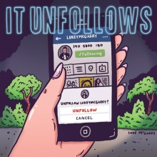 "I haven't seen ""It Follows"" yet. #horror #itfollows #illustration #drawingaday #instagram #unfollow"