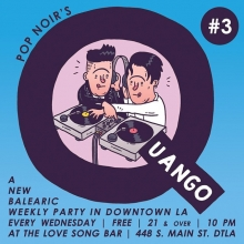 Come to this tonight! @pop.noir's @thequango @thelovesongbar @regenttheaterla we'll be playing records and having drinks, like we do every week!  #popnoir #Quango #dtla #losangeles #dj #balearicdisco #illustration