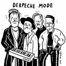"""Not a big fan of """"derp"""" humor, but, when in Rome... #depechemode #derp #illustration #drawingaday #synthpop"""