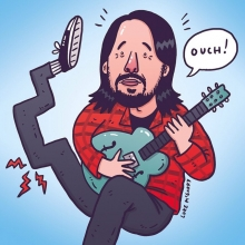 Dave Grohl #foofighters #sweden #davegrohl #nirvana #prayforpaulgeorge #illustration #drawingaday