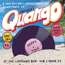 It's Wednesday, which means it's @pop.noir's Quango TONIGHT at @thelovesongbar at @regenttheaterla. Come out and have a drink with me!  #newbalearic #popnoir #quango #dtla #dj #club #illustration #drawingaday