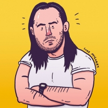Here's a picture of @AndrewWK I drew for @festivalsupreme. The line-up this year is so good.  #illustration #drawingaday #andrewwk #festivalsupreme #partyhard