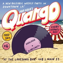 Come to @thequango tonight! @joepopnoir and I will be playing records in our capacity as @pop.noir and the lovely people of @thelovesongbar will be serving you drinks! It's always a lot of fun in DTLA.  #losangeles #djset #clubnight #newbalearic #balearicdisco #popnoir #thequango