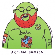 I don't typically take requests, but anything for The Hood Internet @steefsleef @bambambaklava #actionbronson #bunsenhoneydew #muppets #jimhenson #illustration #drawingaday