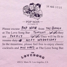No @thequango tonight! Sorry guys! See you next week at @thelovesongbar @regenttheaterla