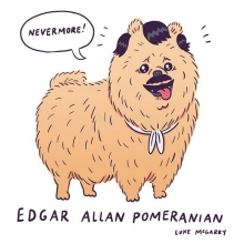 Edgar Allan Pomeranian. #edgarallanpoe #pomeranian #dog #illustration #drawingaday