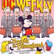 I did the cover for @ocweekly this week, and some interior stuff. Pick it up! #ocweekly #mickeymouse #disneyland #disney #illustration #drawingaday
