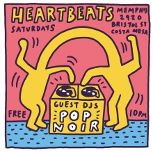 @joepopnoir and I are DJing an 80s night in Costa Mesa tonight, (think Liquid Liquid not Lionel Richie) - here's my Keith Haring homage, haha. Come out! Free! 10pm. Last time we DJ'd here it was nuts! #popnoir #dj #keithharing #oc #costamesa #illustration #drawingaday #80s