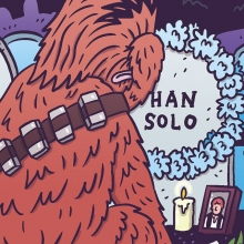 If it's Thursday, it's time for another Sad Chewie over at @superdeluxe. Give them a follow and check out the full cartoon! (I've given up on not spoiling Star Wars for you). #sadchewie #chewbacca #starwars #9658 #superdeluxe #illustration #drawingaday